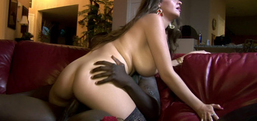 Hot Older Babe Riding a Black Cock